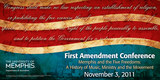 First Amendment Conference Banner.