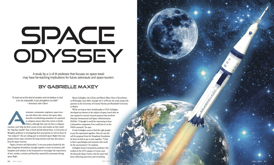 Space Odyssey. Illustration and layout.