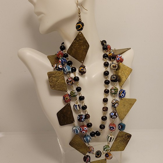 Hand Crafted Jewelry with Metal and Beads