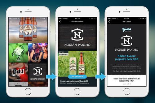 Yossa app UI design