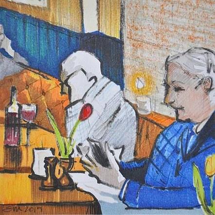 Three Men in a Pub