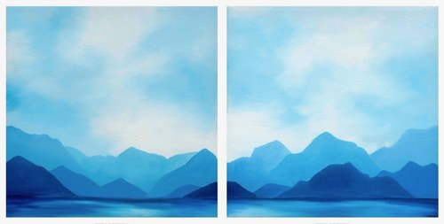 Clear Blue Mountain Range
