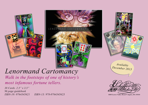 Lenormand Cartomancy. Schiffer Publishing 2013. 39 full colour illustrations. Book. Circa 33,000 words.