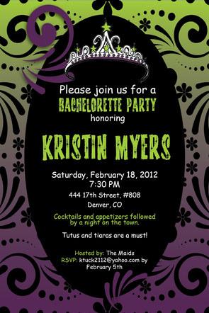Chalson - Wedding - Bachelorette Invitation