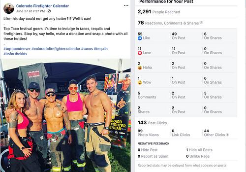 Colorado Firefighter Calendar - Social