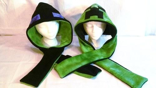 Reversible Creeper/Enderman Hoods