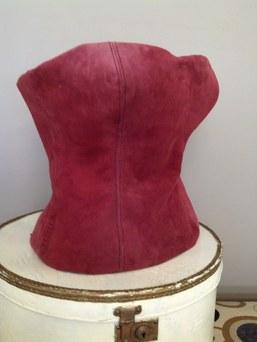 Suede corset