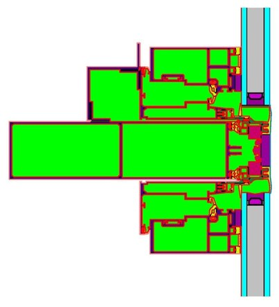 THERM Model - Typical Curtain Wall Transom
