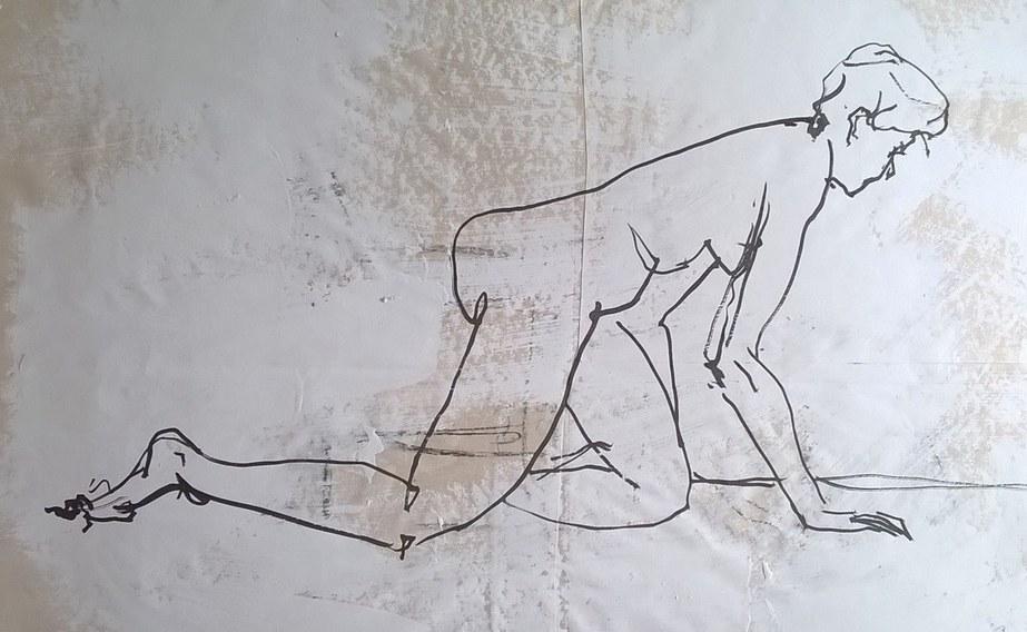 Muybridge inspired nude
