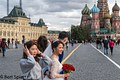 Moscow, Chinese wedding on Red Square