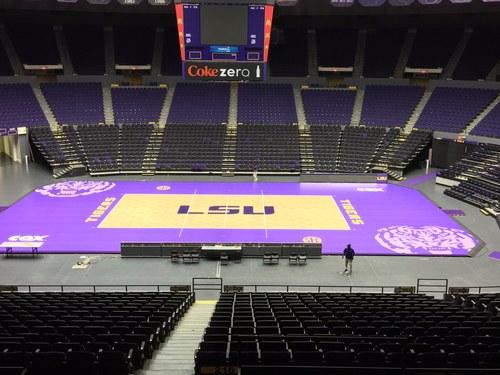 LSU Maravich Center - Temporary Volleyball Court