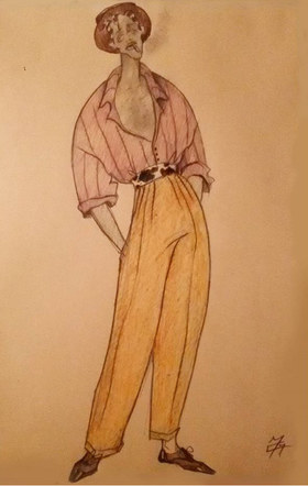 Dancer's costume for ballet-film adaptation of Porgy and Bess