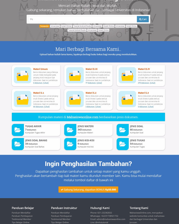 Mahasiswa Online with Laravel 5.4 (Frond End + Back End)