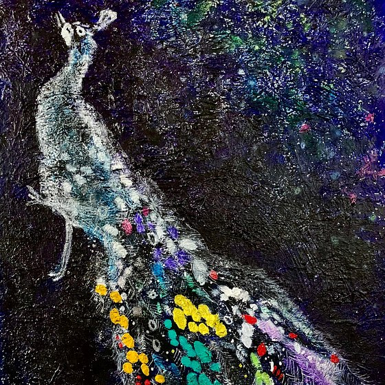 Peacock 7 (after Marc Chagall)