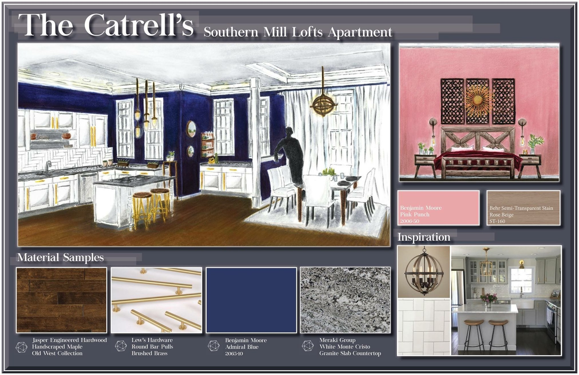 The Catrell's Southern Mill Lofts Apartment
