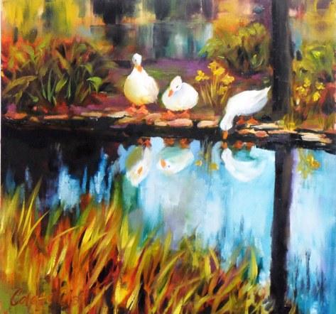 Ducks at Monart