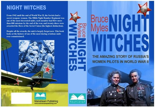 Book Cover Illustration-Bruce Myles Night Witches