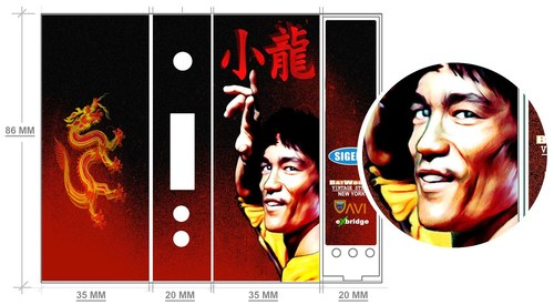 Bruce Lee AviVapes Box Mod Wrap