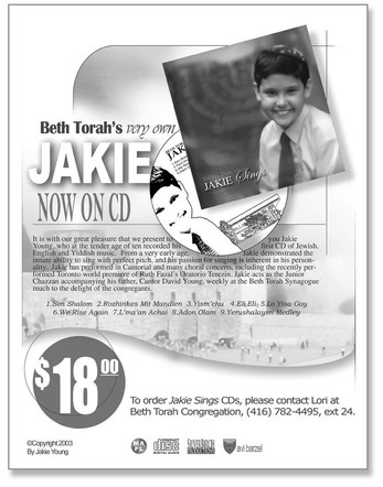 Jakie Young CD Design Ad and Poster