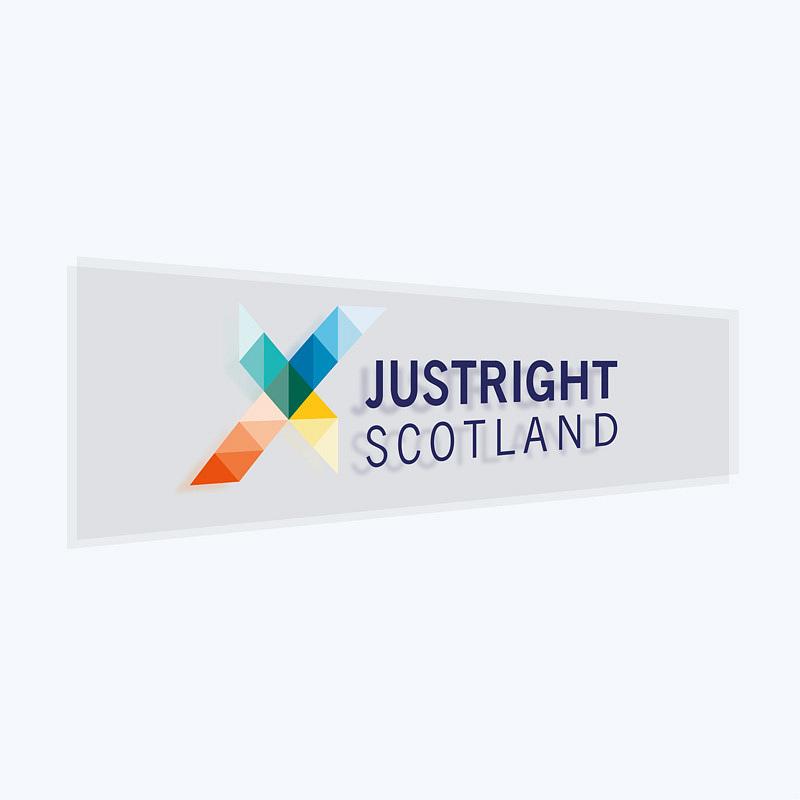 JustRight Scotland. Brand identity design, website design and build, report design and illustration