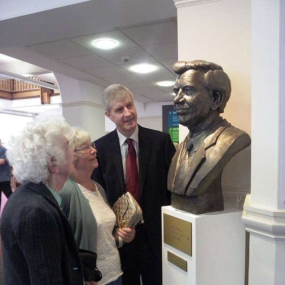 Jack Ashley bust MP Widnes Library