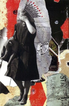 Queen of the Crash - Mixed Media Collage (on paper) - 2012