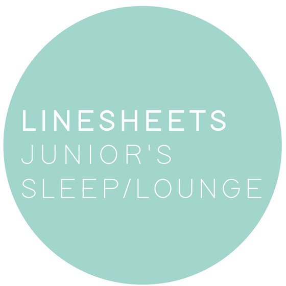 linesheets: junior's sleep/lounge