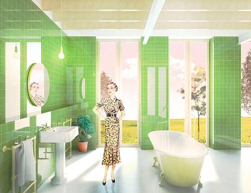 green bathroom * nuvillu