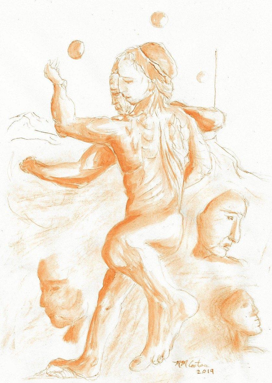 Study After Michelangelo
