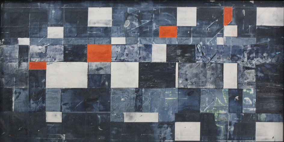 Untitled - 22x11 inches - ​Fresco + Secco - Collection of the artist